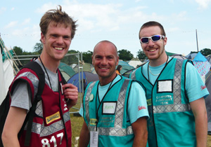 Hotbox Events festival staff and volunteers working in Latitude Festival campsite