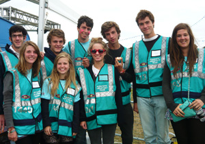 Hotbox Events festival volunteers working in Leeds Festival campsites