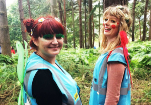 Hotbox Events pixie festival stewards working in Latitude Festival woods arena