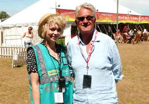 Hotbox Events festival volunteer with Melvin Benn at Latitude Festival
