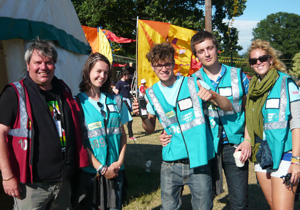 Hotbox Events event staff and event volunteers working in event campsite