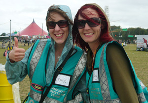 Hotbox Events event volunteers working in Leeds Festival arena