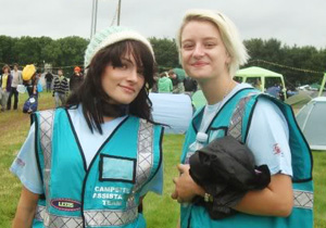 Hotbox Events festival stewards working in Latitude Festival campsite