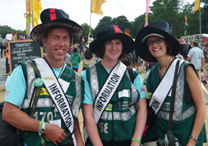 Hotbox Events event stewards working in Latitude Festival arena
