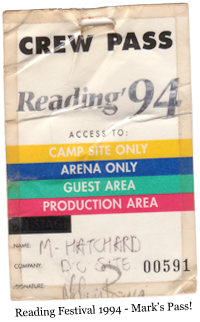 Reading Festival 1994 - Mark's Pass!