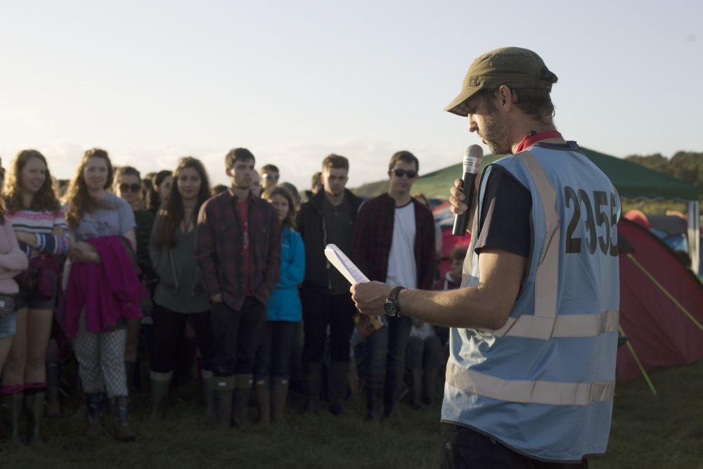 Briefing at Reading Festival 2015