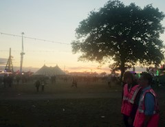 Hotbox Events volunteers looking after the Reading Festival arena