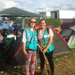 Hotbox Events volunteers in the Reading Festival campsites