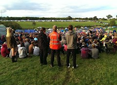 The first of many Leeds Festival volunteer briefings