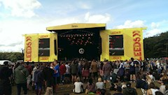 The main stage at Leeds Festival in the daytime