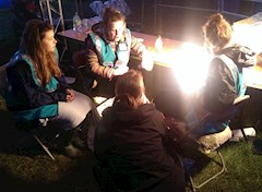 Story time in the festival campsites