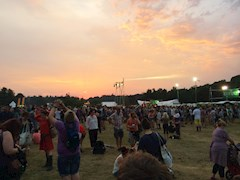 An evening in the Latitude Festival arena