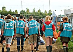 Hotbox Events festival volunteers heading to the campsites