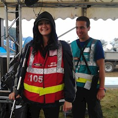 Festival stewards and fire marshals working well together