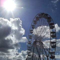 The big wheel at Leeds Festival