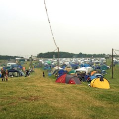 Leeds Festival Brown Zone nice and chilled