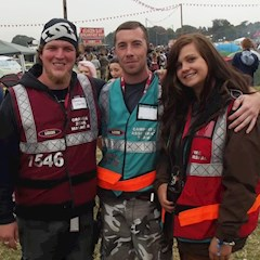 Stewards fire marshals and zone managers at Leeds Festival