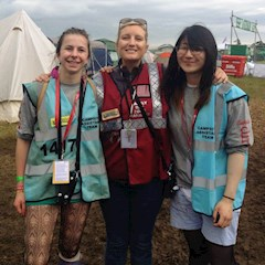 Zone Manager Kelly with two of our festival volunteers