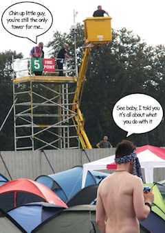 Leeds Festival Tower Envy