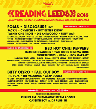 2016 Reading and Leeds Festival line-ups announced! Volunteer to join us there for free!