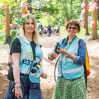 Festival staff and volunteer photos from the 2016 Latitude, Reading, Leeds, and V Festival!