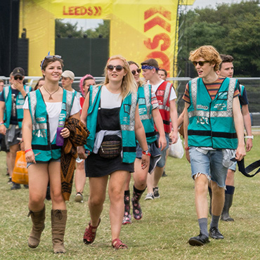 Event Jobs and Work - Event staff walking to work in the event arena