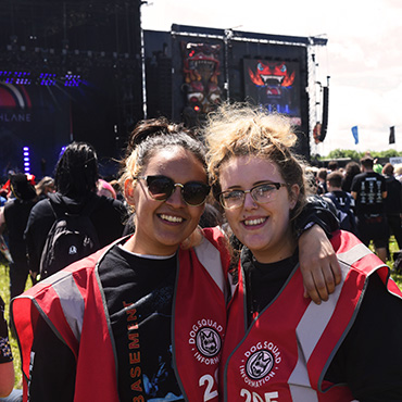 Volunteer at Download Festival - Arena volunteers close to stage