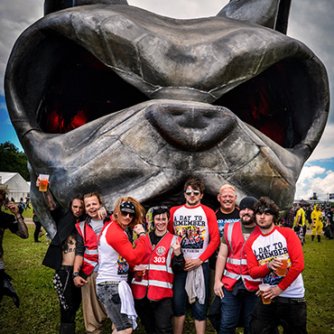 Volunteer at Download Festival - Arena volunteers with download dog
