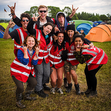 Volunteer at Download Festival - Campsite volunteers group rock