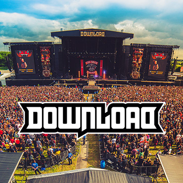 Volunteer at Download Festival with Hotbox Events - Stage photo with festival logo - 2018 001 370PxSq72Dpi