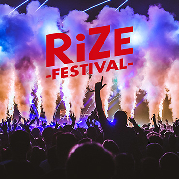 Volunteer at RiZE Festival with Hotbox Events - Stage photo with festival logo - v2018 001 370PxSq72Dpi