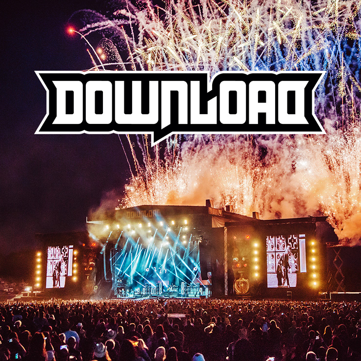 Volunteer at Download Festival with Hotbox Events - Stage photo with festival logo 2019 001 740PxSq72Dpi