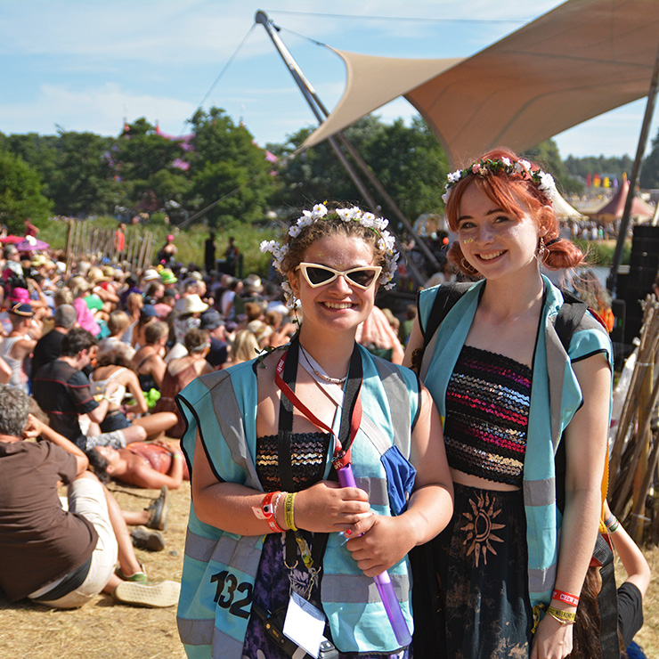 Volunteer at Camp Bestival with Hotbox Events - Right column - Arena volunteers