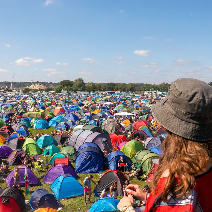 Volunteer at Reading Festival 2020 with Hotbox Events - Campsite fire tower volunteer with blue sky